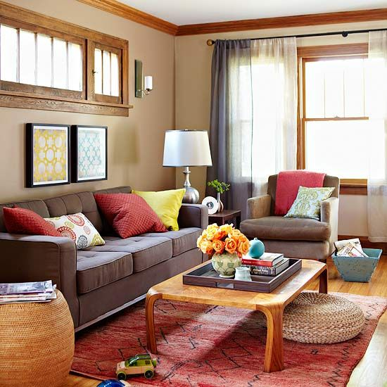 Living Room Yellow And Red red blue yellow living room - living room design ideas