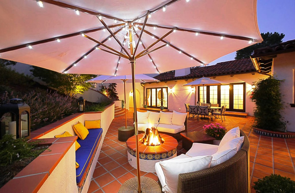 String Lights Under Umbrella : Porch Perfect: Serene Porch Styling Tips for Summer
