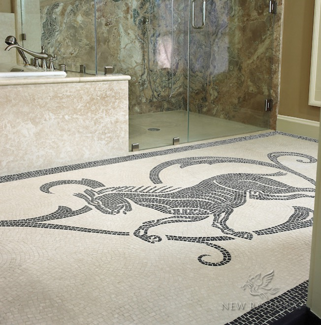 marble mosaic floor - interior design.