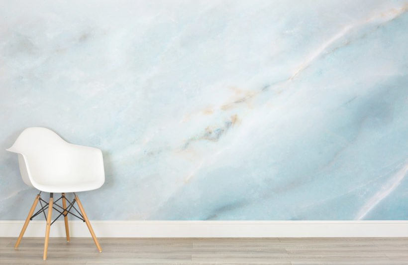 Marble wallpaper in interior design