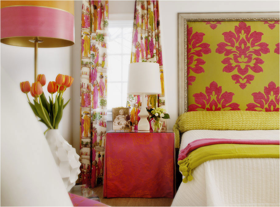 A-pink-and-green-bedroom-Caldwell-Flake