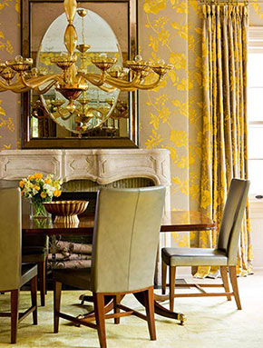 dining-room-gold-pattern-wall-fabric