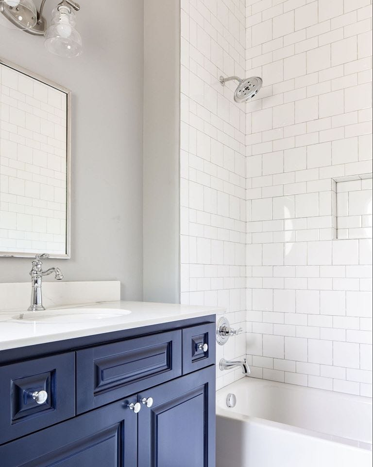 Classic Blue in Bathroom design.
