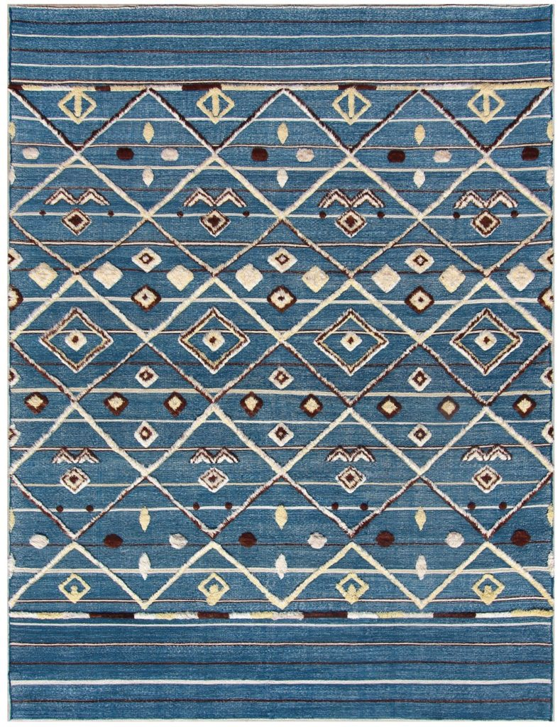 blue Cyrus tribal Artisan Creek Rug