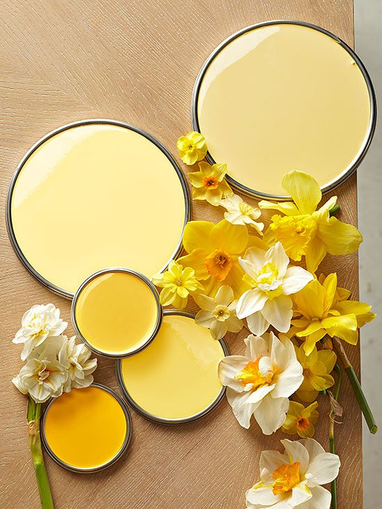 Yellow paint. How colors affect your mood.