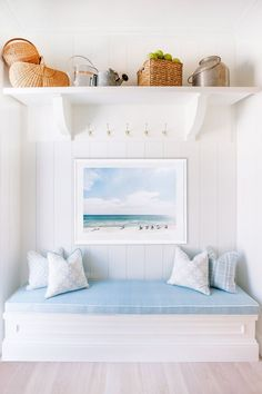 Light blue accents in Master bedroom